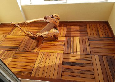 Solid Tigerwood Deck Tile